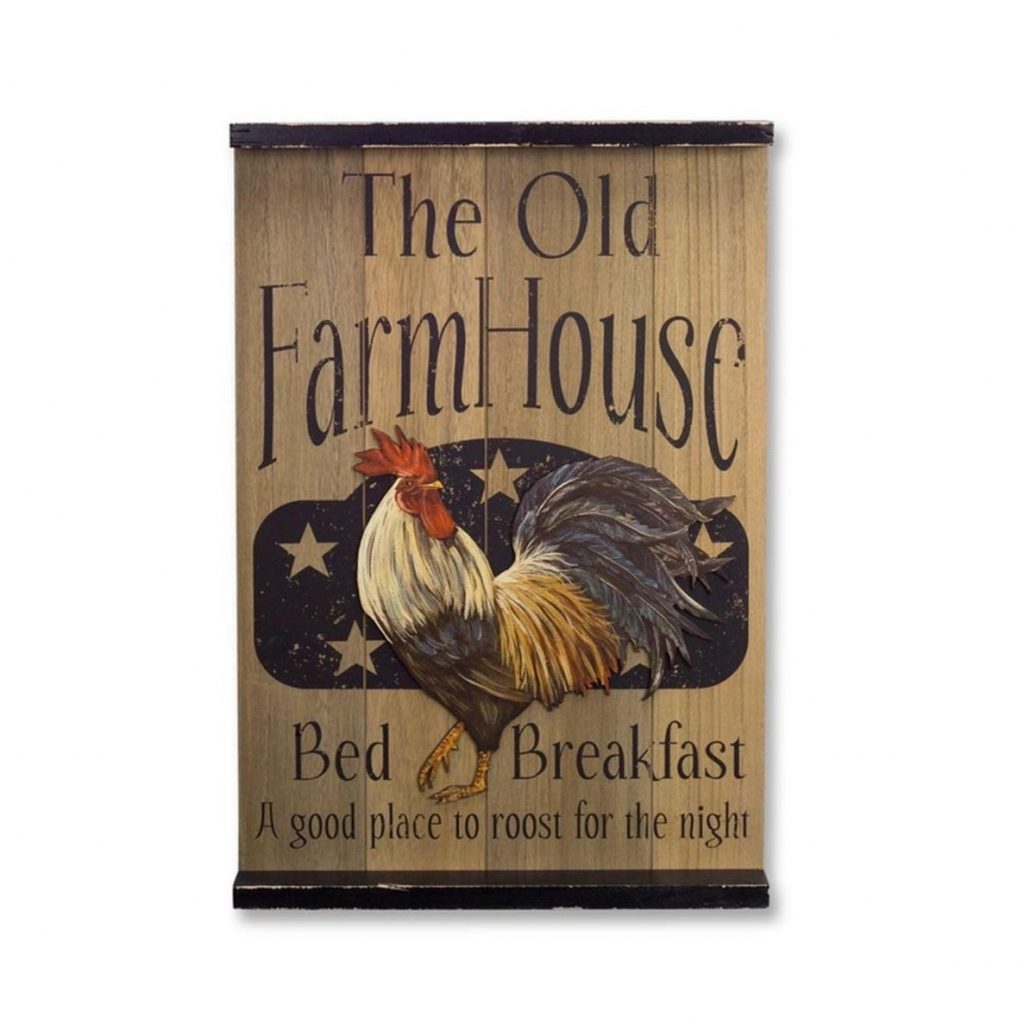 Shop Pack Of 2 Country Rustic Rooster Farmhouse Decorative Plaques