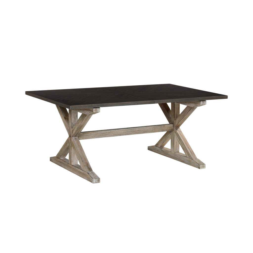 Shop Standard Furniture Jefferson Trestle Dining Table With 16 Leaf