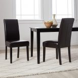 Shop Villa Faux Leather Dining Chairs Set Of 2 Free Shipping