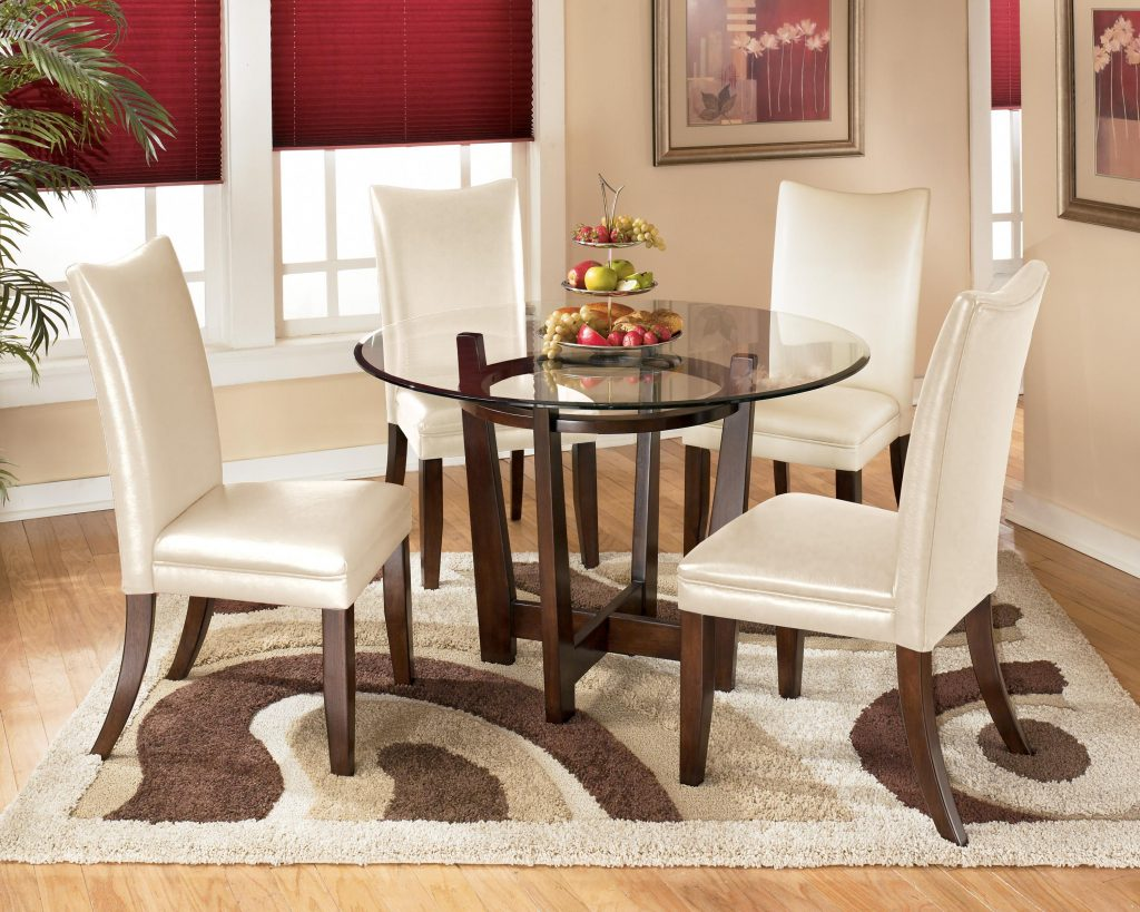 Signature Design Ashley Charrell 5 Piece Round Dining Table Set