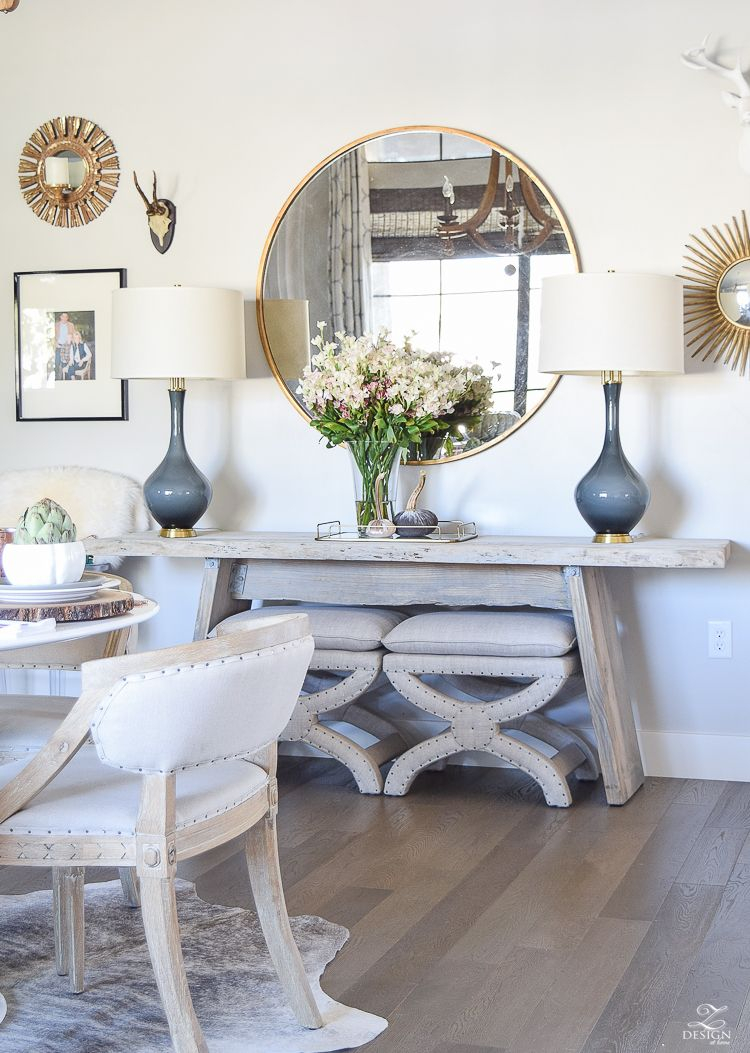 Simple Neutral Thanksgiving Entertaining Home Dining Room
