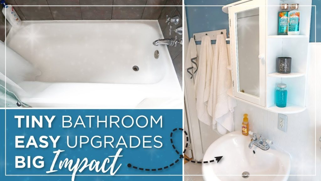Small Bathroom Diy Budget Remodel Cheap Easy Bathroom Makeover