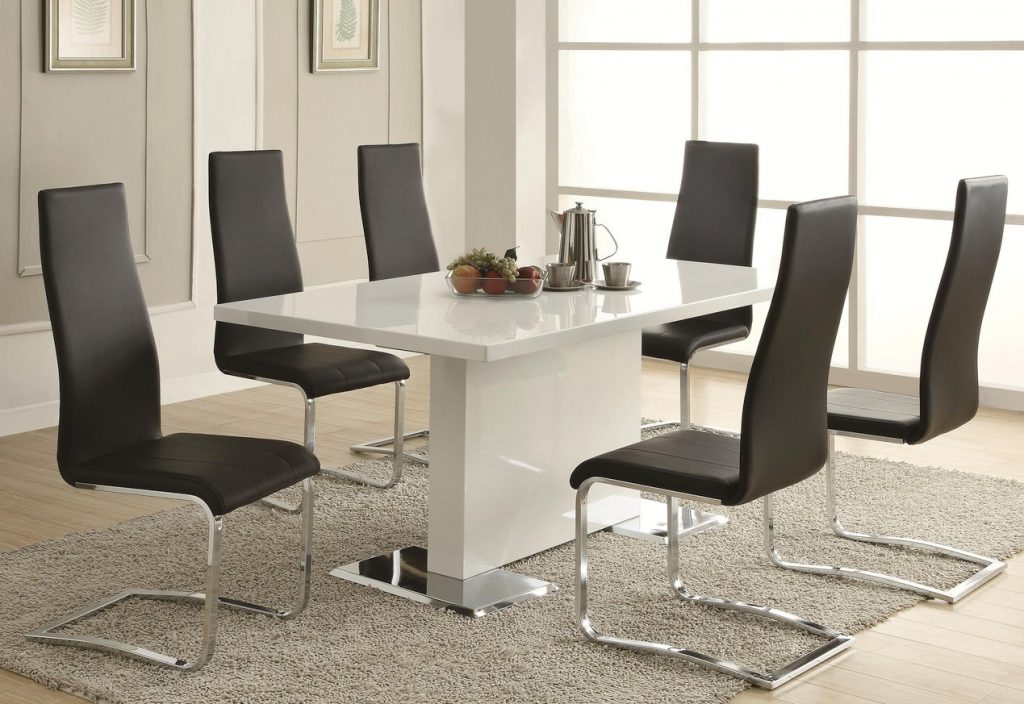 Sobe White Black Dining Table Set Contemporary Dining Set