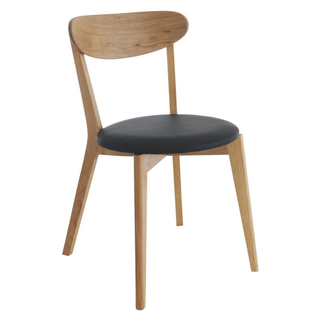 Sophie Oak Dining Chair With Black Seat Pad Buy Now At Habitat Uk