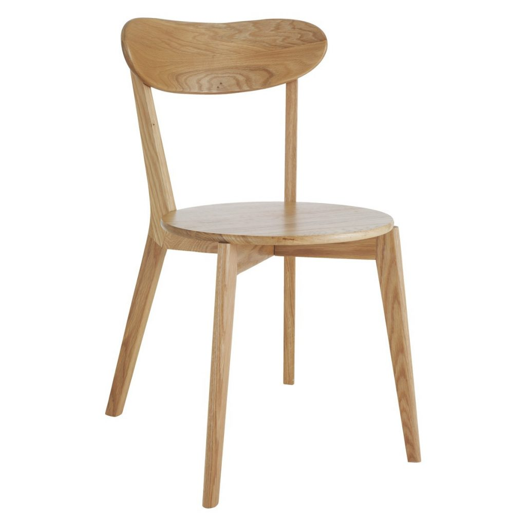 Sophie Oak Dining Chair With Curved Backrest Buy Now At Habitat Uk
