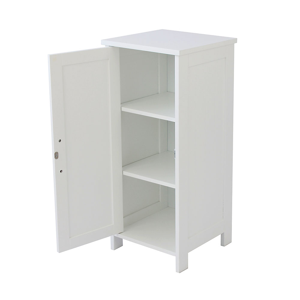 Storage Floor Cabinet White Bathroom Cupboard House Homestyle