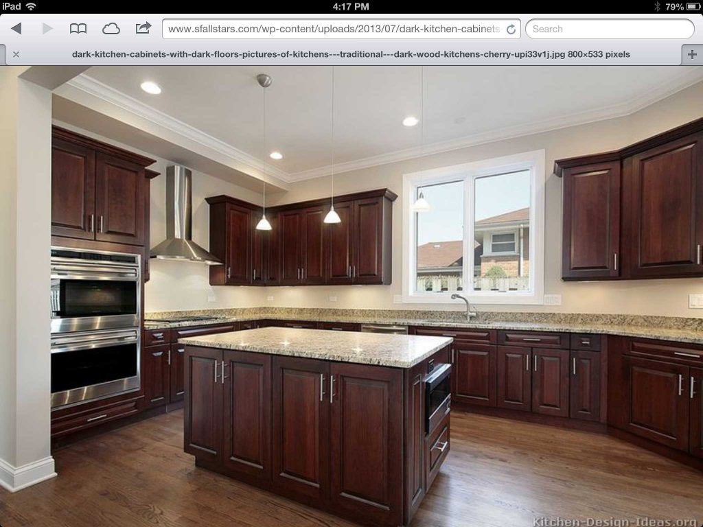 Stunning What Color Flooring Go With Dark Kitchen Cabinets Trends