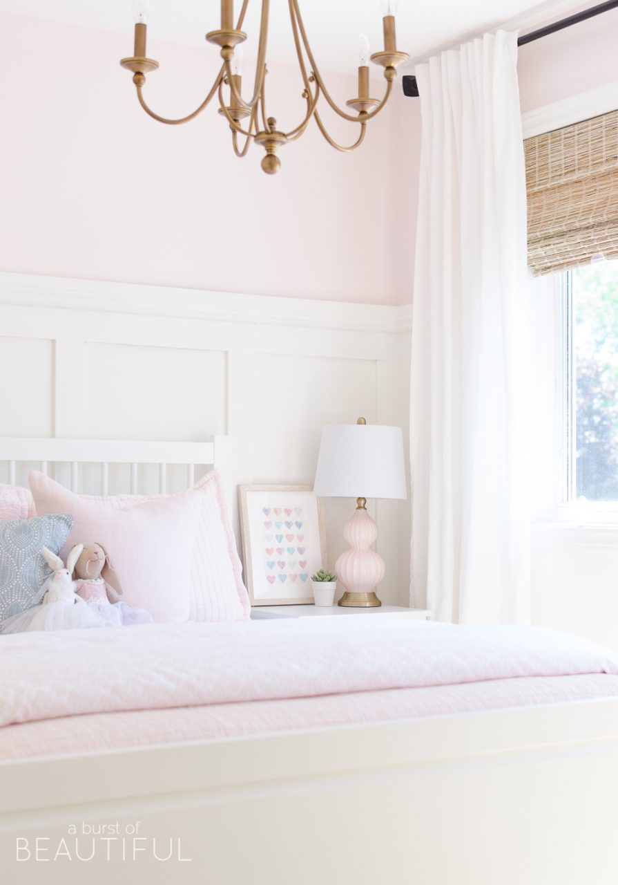 Sweet Pink And White Little Girls Bedroom Toddler Bedroom Reveal