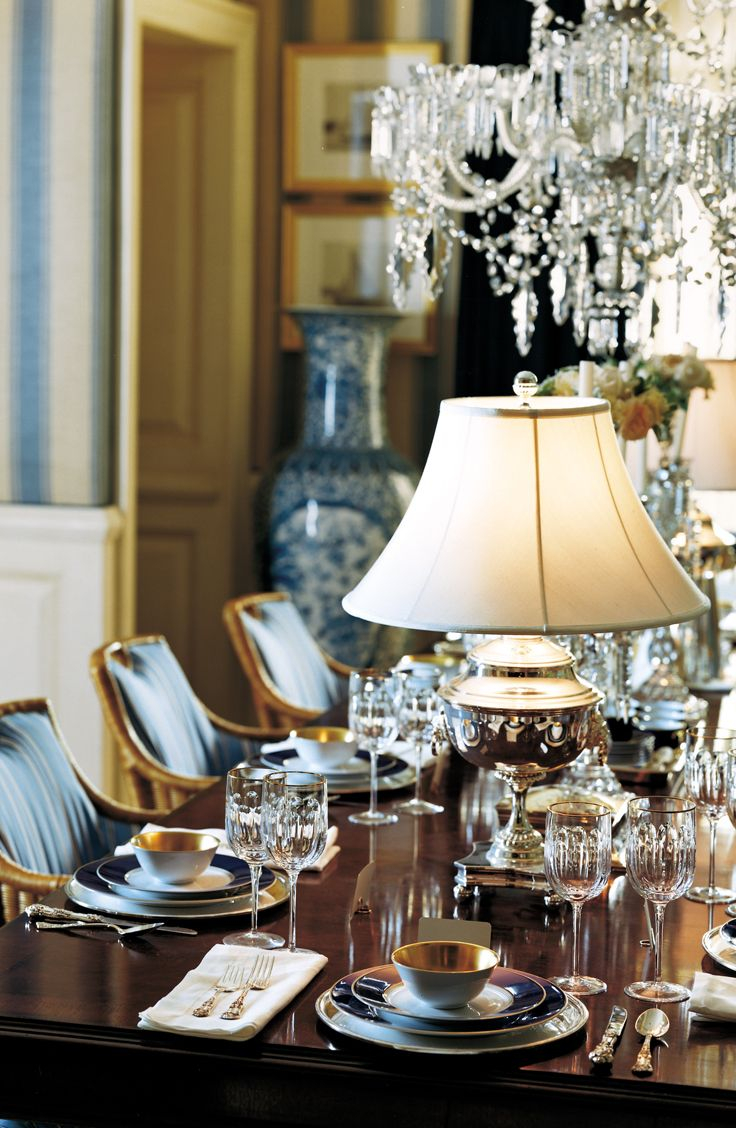 Table Lamps Create Intimate Moments At A Sparkling Formal Dinner