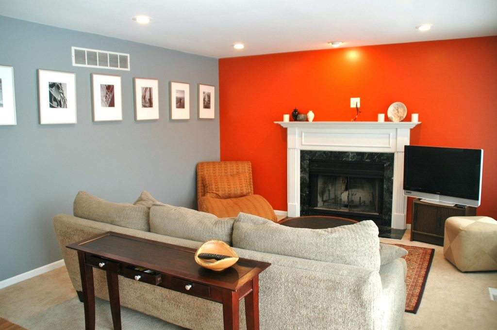 Temporary Orange Paint Colors For Living Room Grey Orange Living