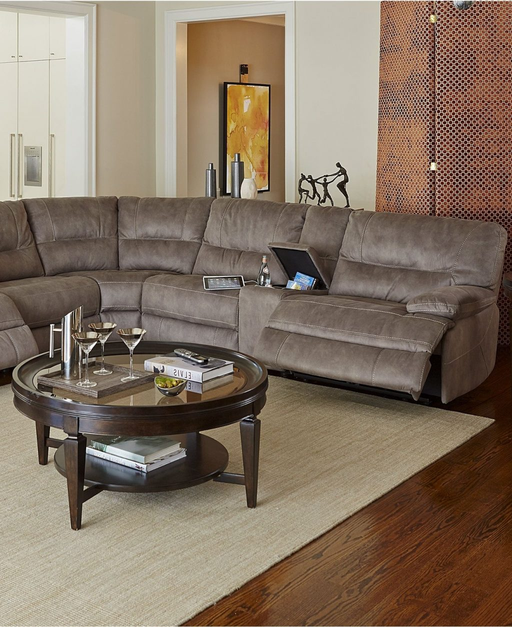 The Best Jedd Fabric Reclining Sectional Sofas