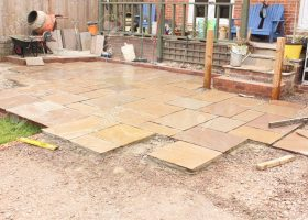 Natural Stone Patio Construction