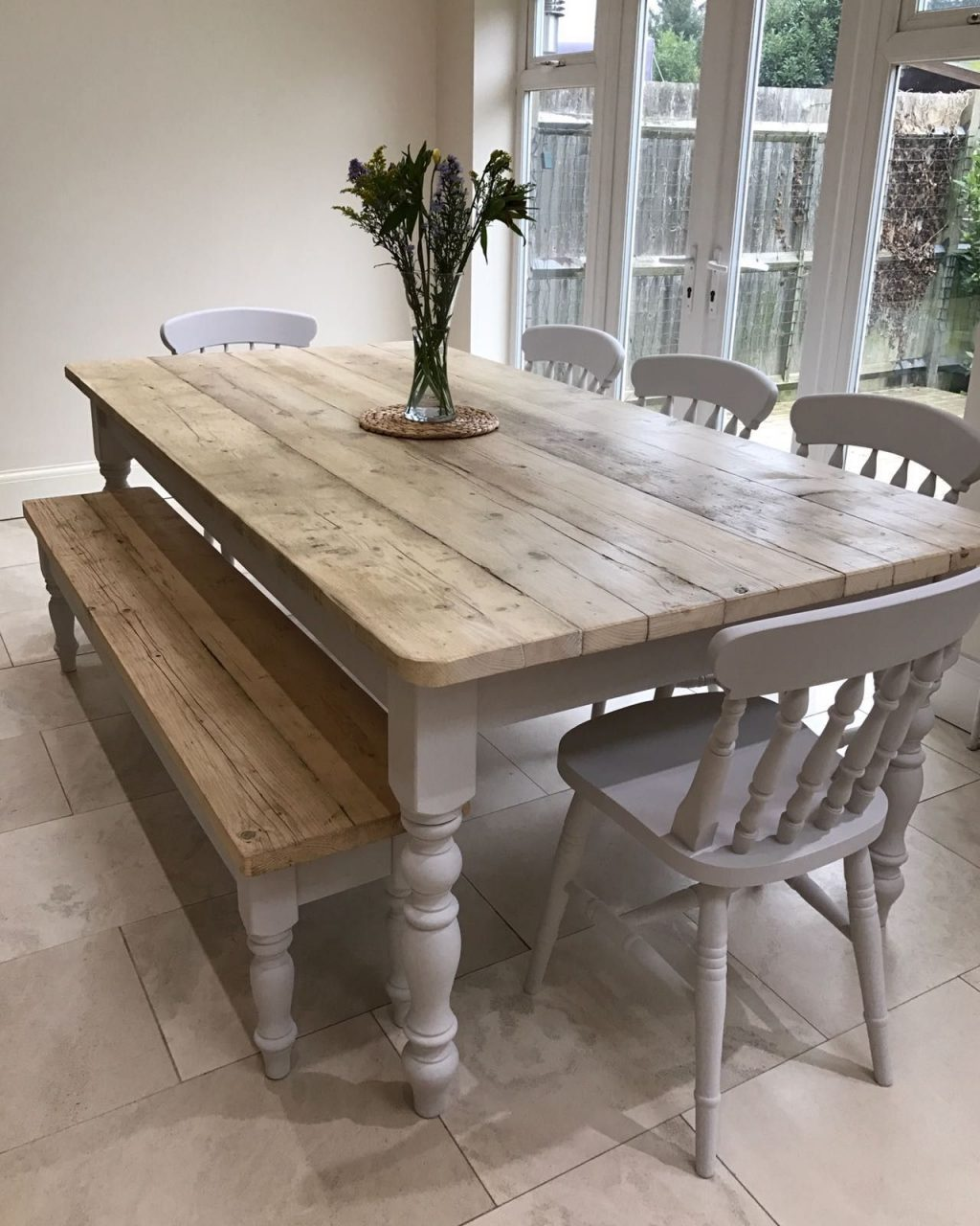 The Florence Clear Table Made From Reclaimed Wood Distressed