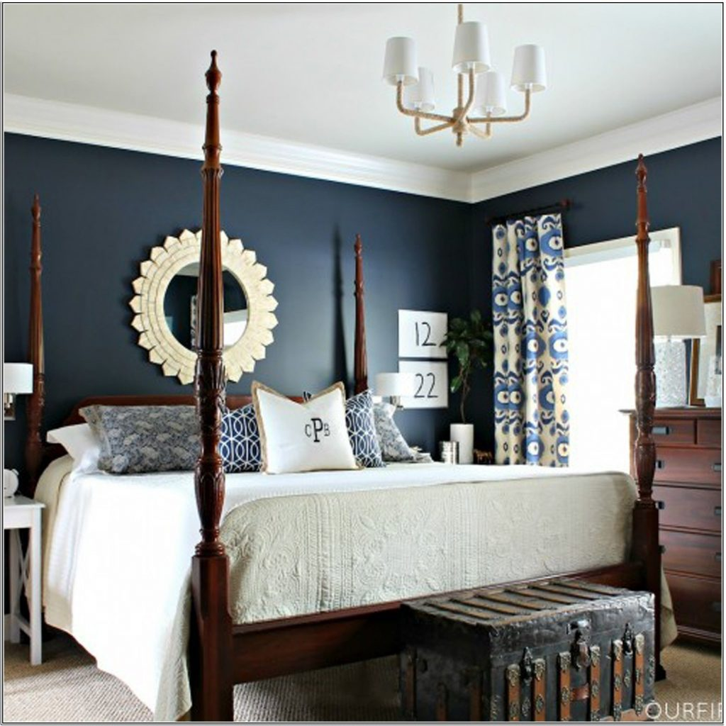 The Inspired Navy Blue Bedroom Decorating Ideas Collections