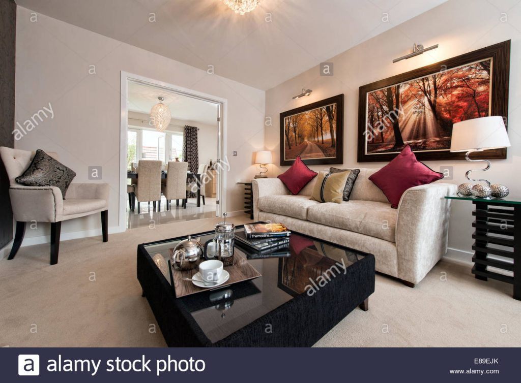 The Living Room Of A Persimmon Homes Show Home On A Typical British