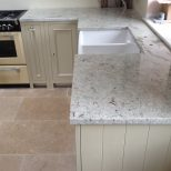 This Gorgeous River Valley White Granite Solid Kitchen Worktop Is