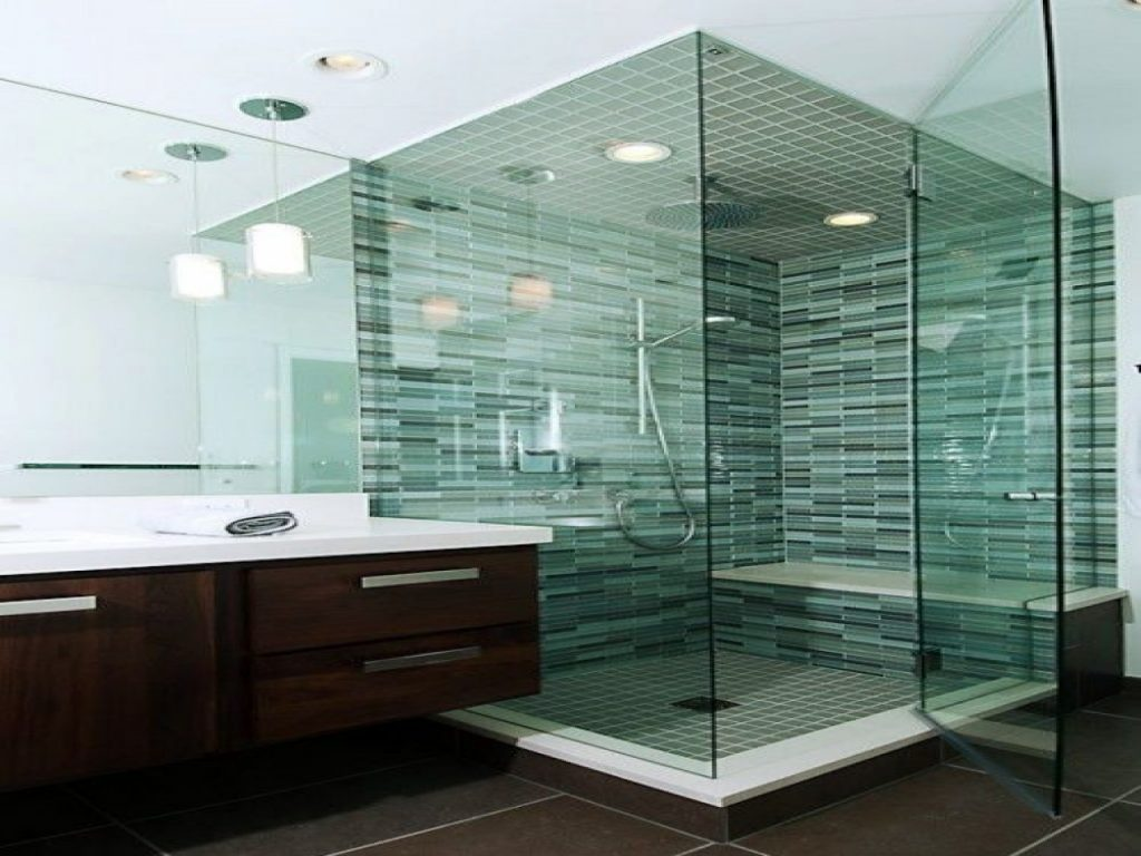 Tips For Small Rooms Glass Mosaic Tile Bathroom Green Green