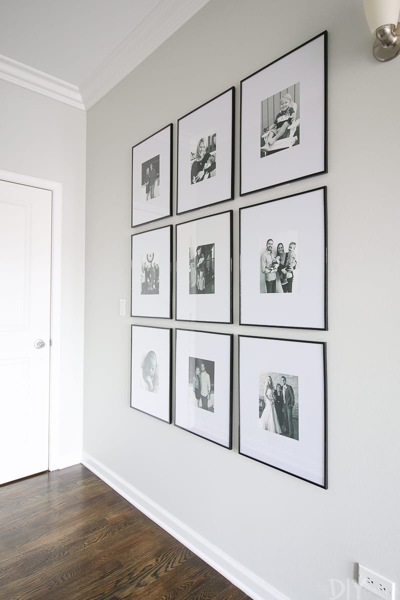 Tips To Hang A Symmetrical Gallery Wall In Your Hallway The Diy