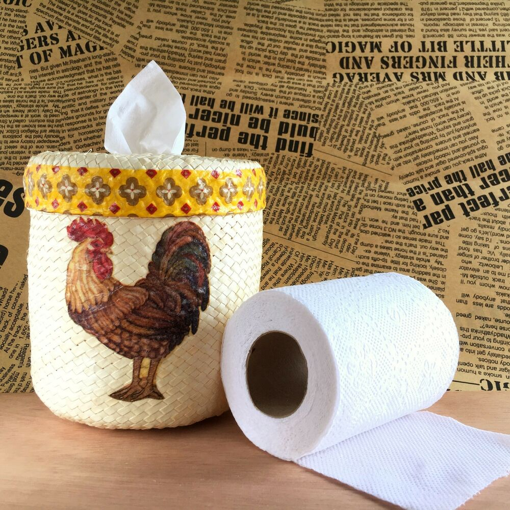 Tissue Paper Holder Toilet Bathroom Decor Country Farm Rustic