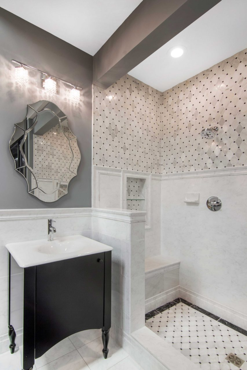 Traditional And Modern Look With Classic Bathroom Tile Carrara