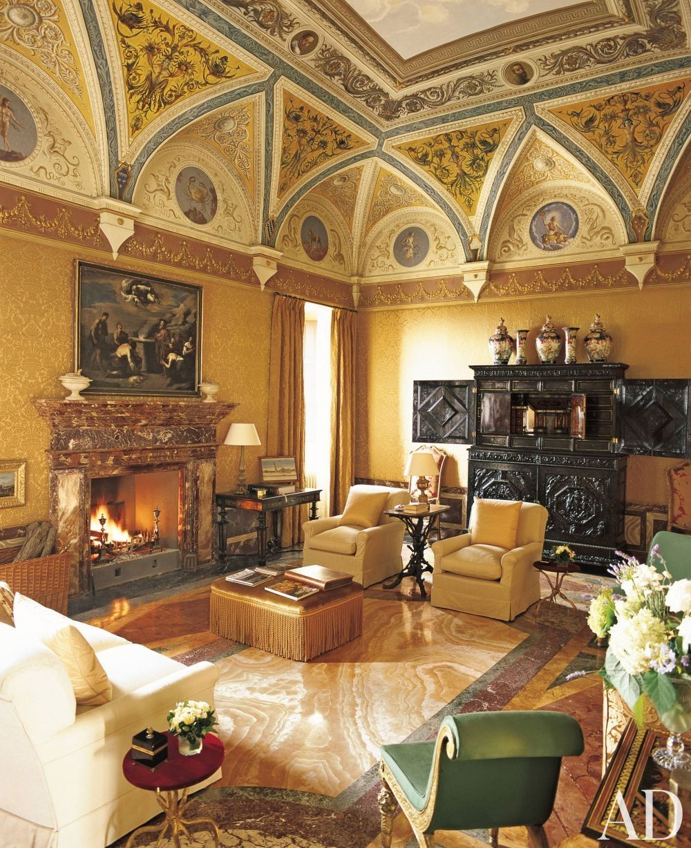 Traditional Living Room Mlinaric Henry And Zervudachi In Tuscan