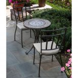 Tremiti Mosaic Patio Bistro Set Patio Dining Sets At Outdoor Pub Table