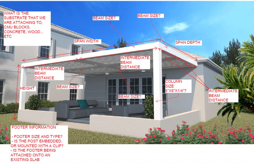 Typical Information Needed For Engineering Design Of A Patio Pergola