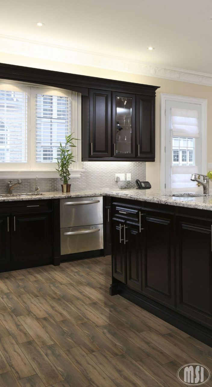 Unique Medium Brown Kitchen Cabinets What Color Wood Floor With Dark