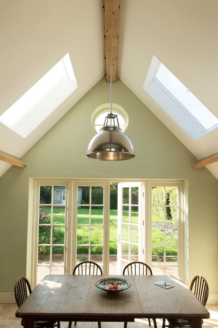 Vaulted Ceilings Farrow And Ball Cooking Apple Green Designed