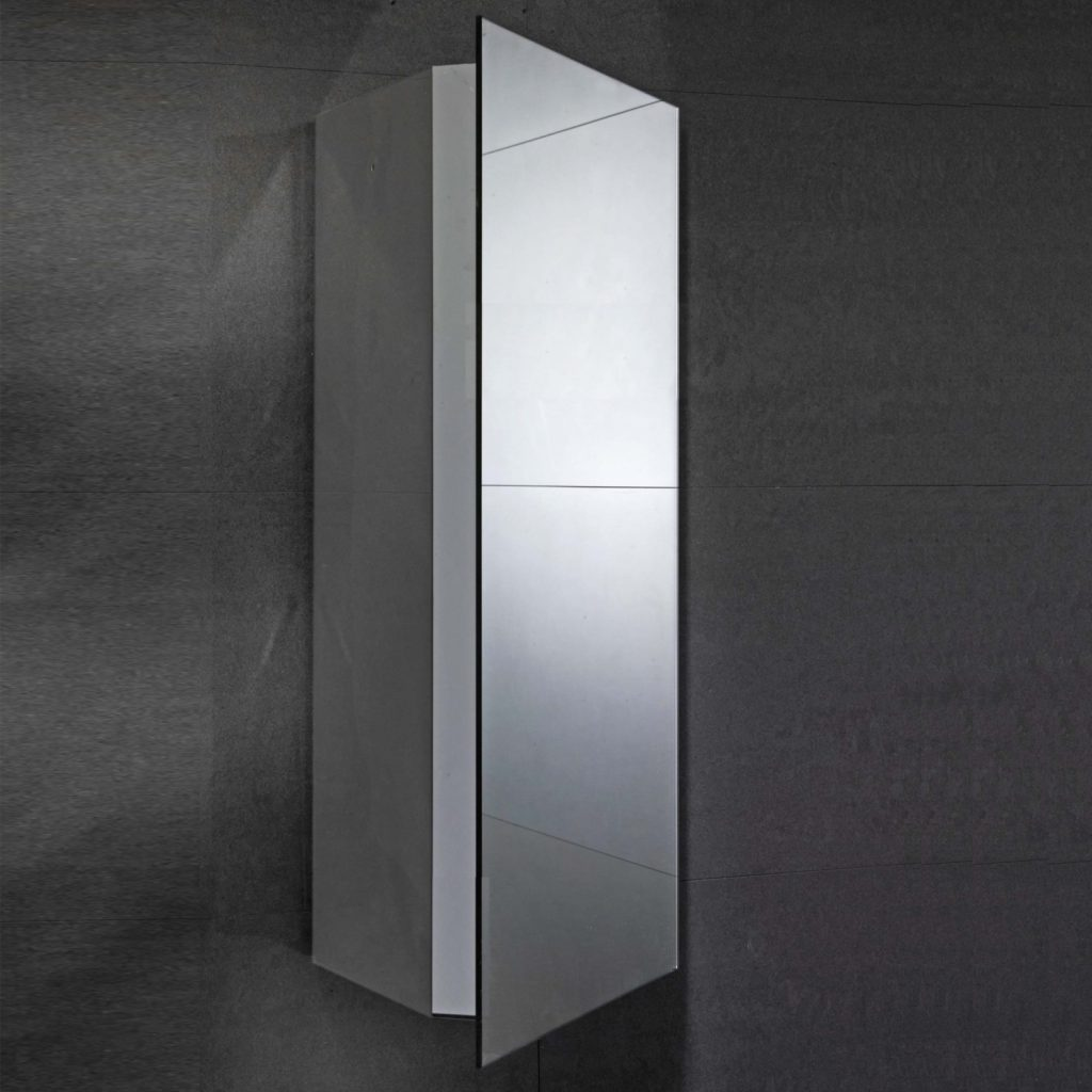 Verona Alcove Bathroom Cabinet Be4k01 300mm Steel