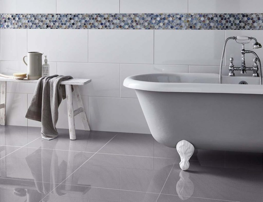 Victoria Rectified Gloss Brilliant White Wall Tile Wall Tiles From