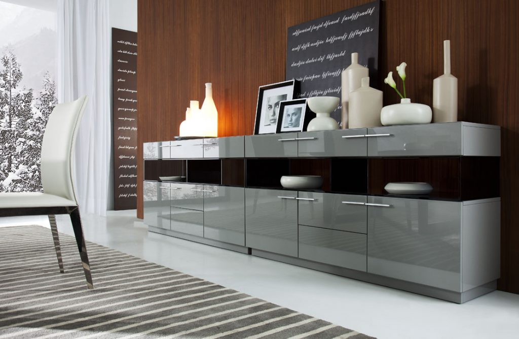Vig Daytona Grey High Gloss Buffet Dallas Tx Dining Room China