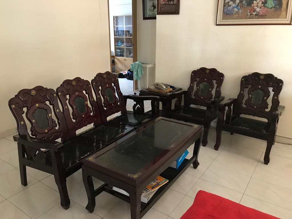 Vintage Rosewood Living Room Coffee Table And Chairs Set Furniture Layjao