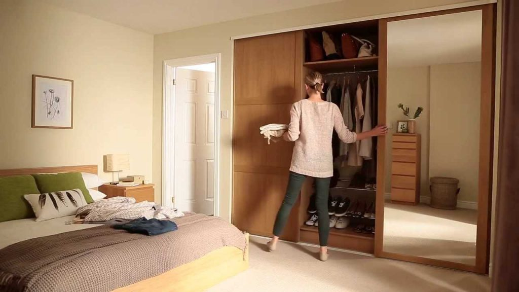 Wardrobe Closet Mirror Doors Mirror Decorating Ideas