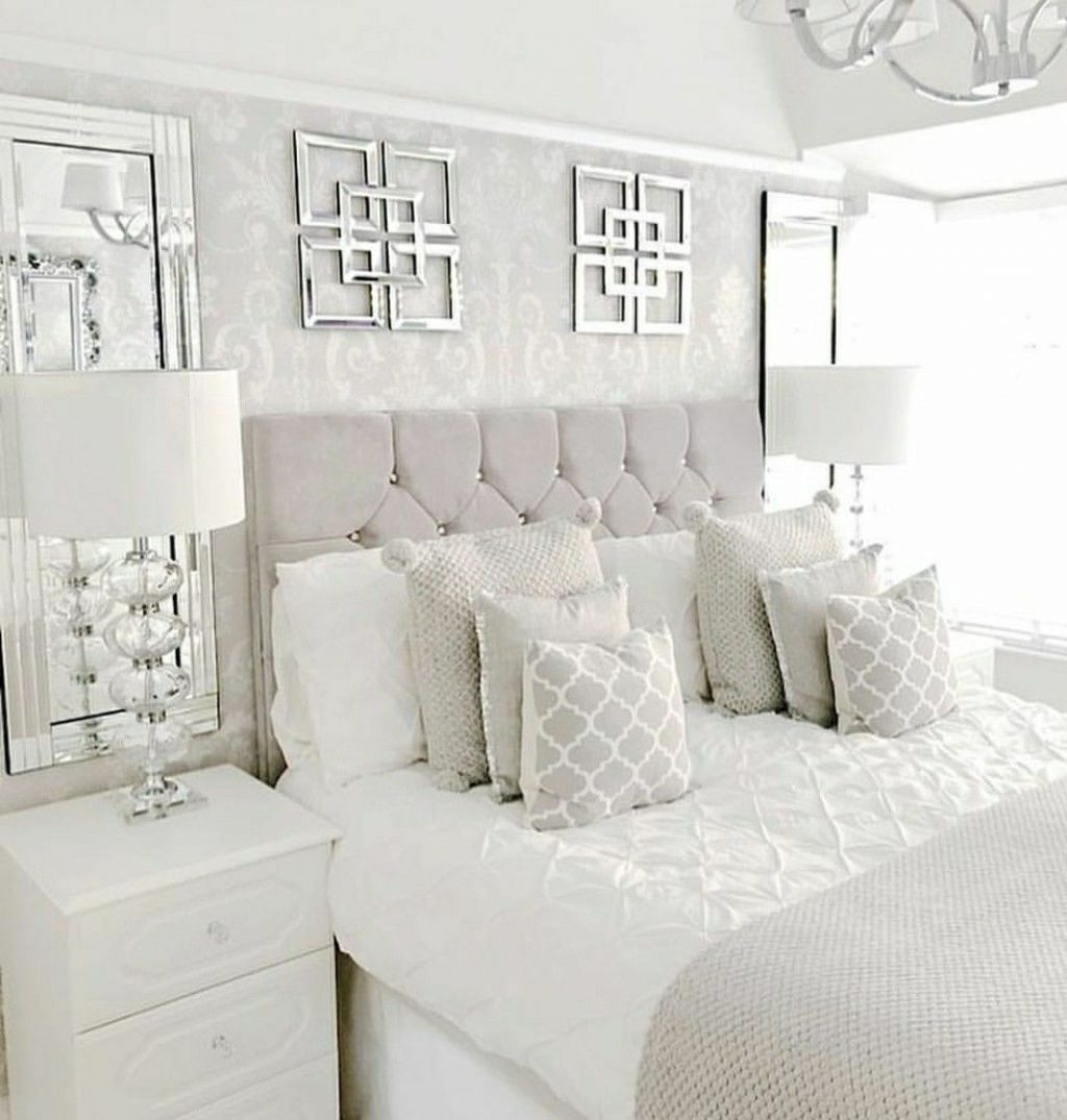 White Glam Bedroom Home In 2019 Bedroom Decor Home Bedroom