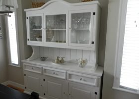 White Dining Room Hutch and Buffet