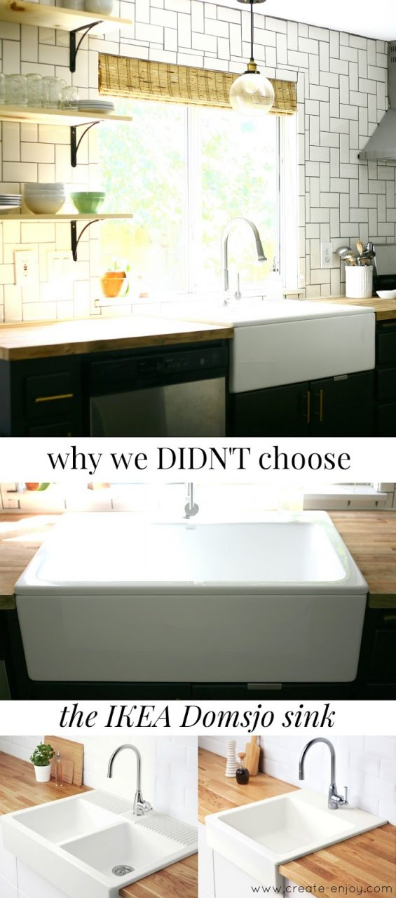 Why We Didnt Chose The Ikea Domsjohavsen Sink For Our Farm Sink