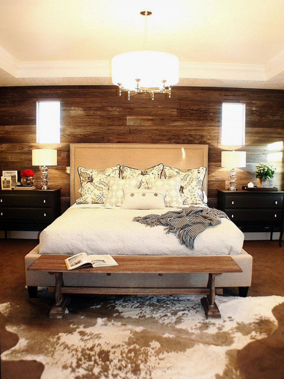 Wood Accent Wall Bedroom Interior Design