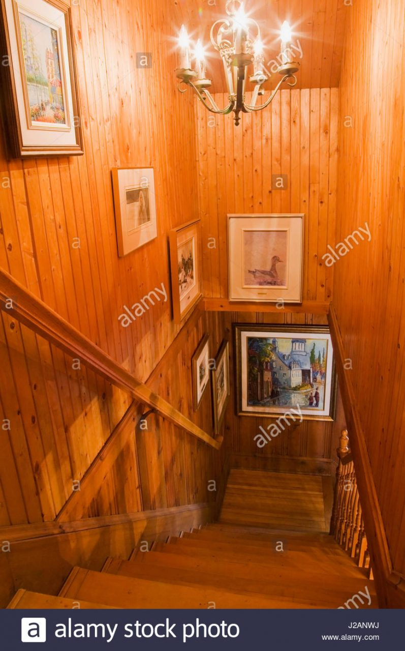 Wooden Staircase Leading To The Downstairs Floor Inside A 1920s