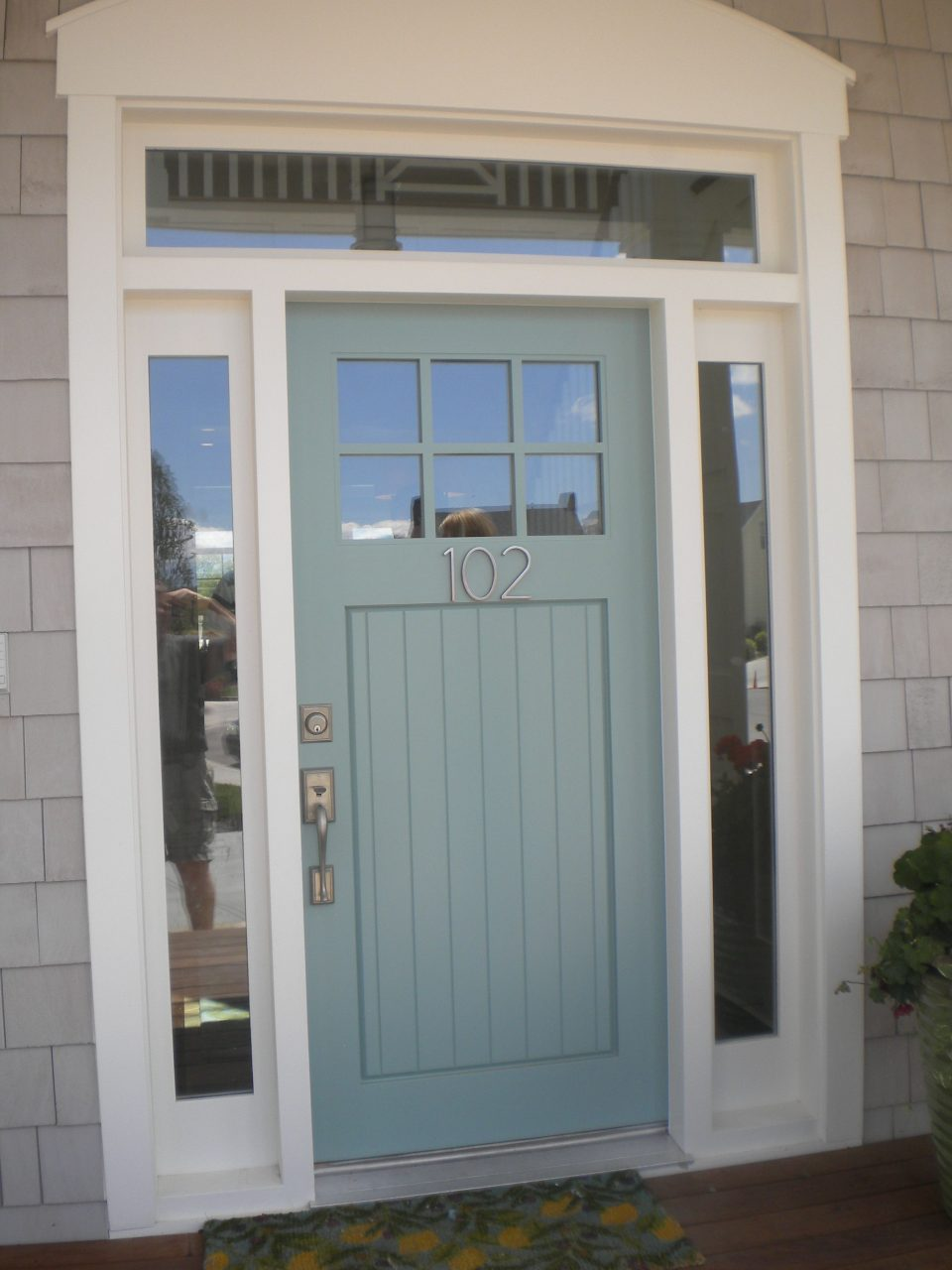 Wythe Blue Exterior Front Door Color Clean And Bright Description