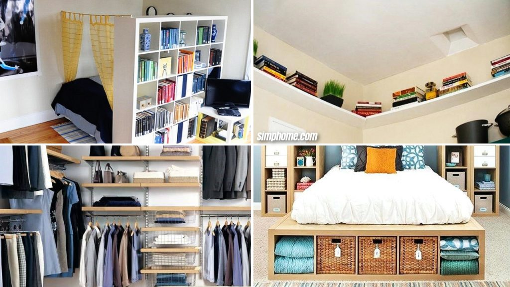 10 Diy Small Bedroom Storage Ideas Simphome