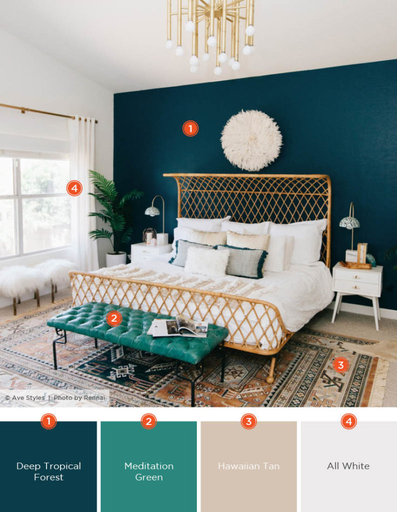20 Dreamy Bedroom Color Schemes Shutterfly Tropical Themed Bedroom