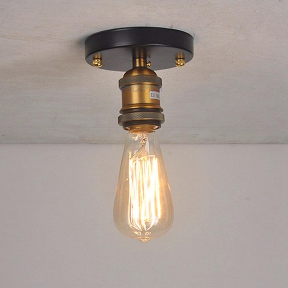 2019 Vintage Ceiling Light Flush Mounted Ceiling Lamp E27 Metal