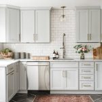 Light Gray Kitchen White Cabinets