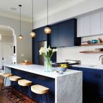Kitchen Cabinets with Navy Blue