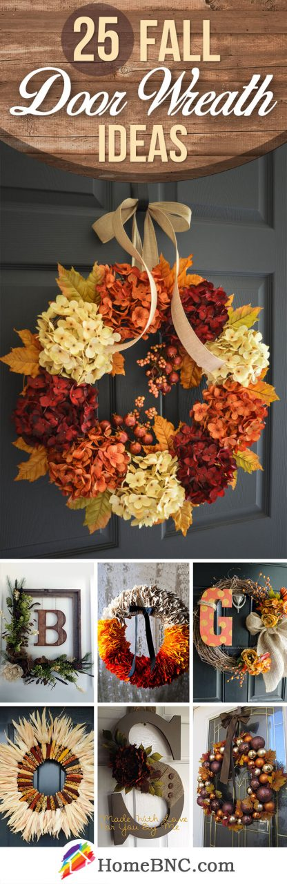 25 Best Fall Door Wreath Ideas And Designs For 2019