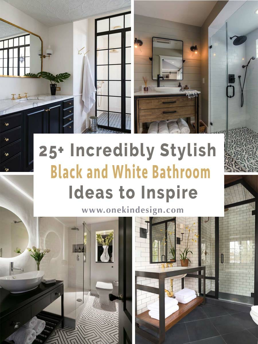 25 Incredibly Stylish Black And White Bathroom Ideas To Inspire Blog