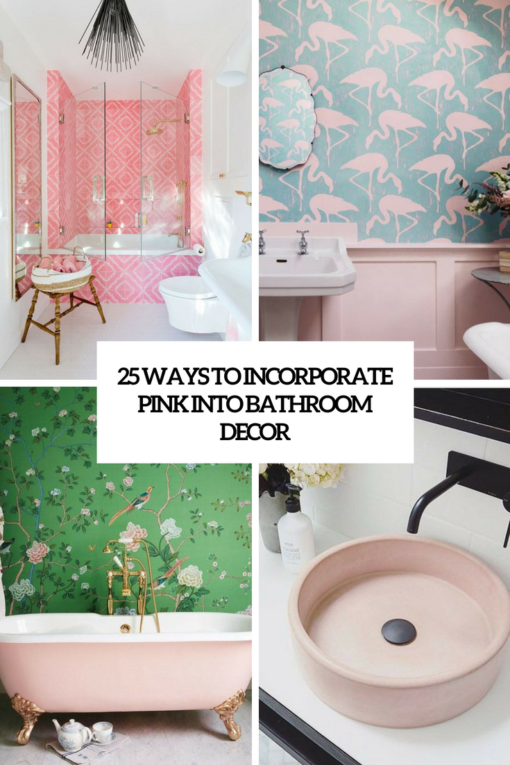 25 Ways To Incorporate Pink Into Bathroom Decor Digsdigs