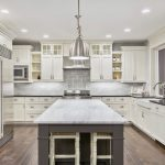 White Kitchen Cabinets with Vinyl