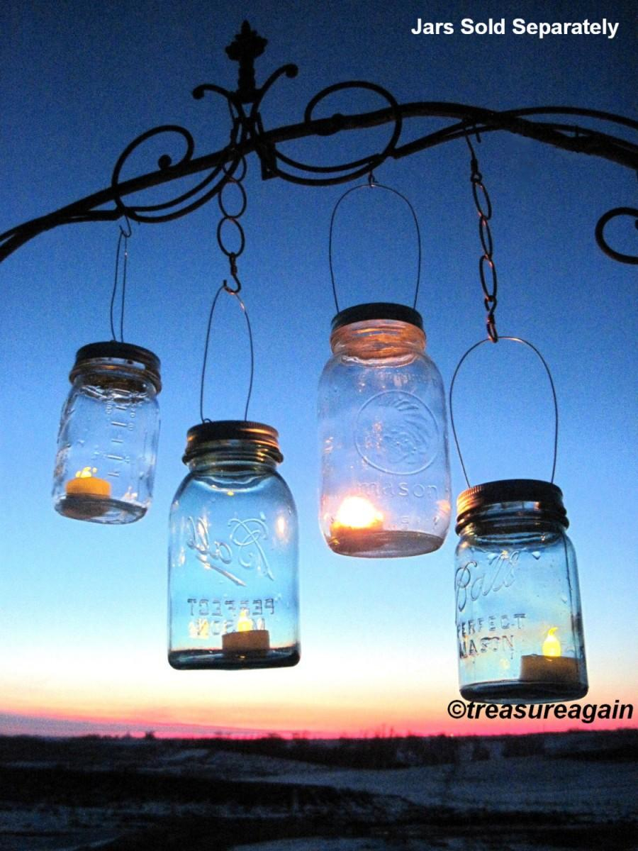 30 Candle Lantern Lids Diy Wedding Mason Jar Lanterns Hanging